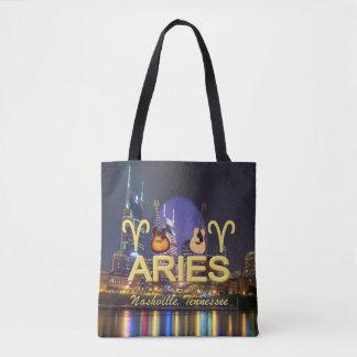 Bolsa Tote Aries do zodíaco de Nashville por todo o lado na