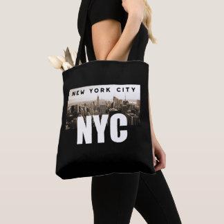 Bolsa Tote Arquitetura da foto da skyline da Nova Iorque de