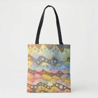 Bolsa Tote Arte abstracta Pastel em muitas cores