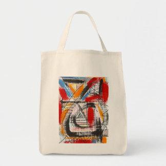Bolsa Tote Arte abstracta pintada terceira Olho-Mão