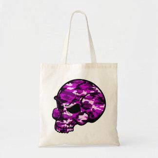 Bolsa Tote Arte cor-de-rosa do tottoo dos grafites da cabeça