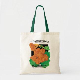 Bolsa Tote Arte da etiqueta do pacote da semente do vintage,