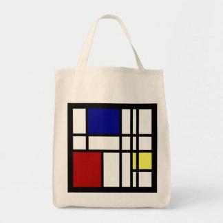 Bolsa Tote Arte da impressão de Mondrian