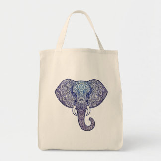 Bolsa Tote Arte do elefante do Henna