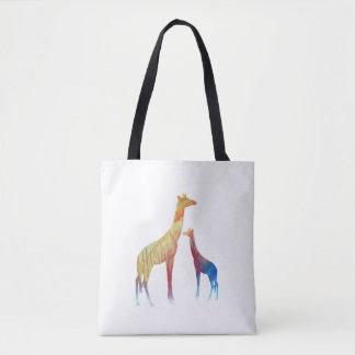 Bolsa Tote Arte do girafa