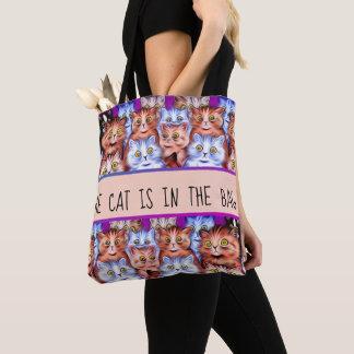 Bolsa Tote Arte dos gatos da maravilha de Louis Wain do