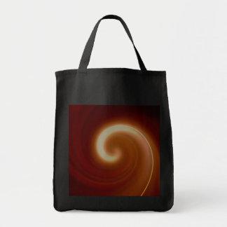 Bolsa Tote Arte espiral clara escura de Brown