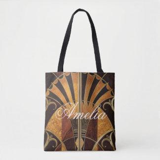 Bolsa Tote arte Nouveau, art deco, vintage, multi cores de