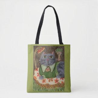 Bolsa Tote Arte popular retro Groovy do gato