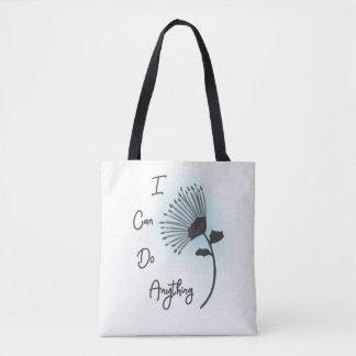 Bolsa Tote Arte Printable eu posso fazer qualquer coisa