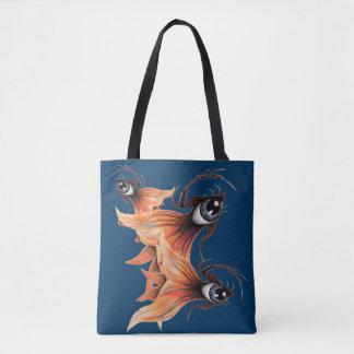 Bolsa Tote Arte surreal do original da fantasia do peixe