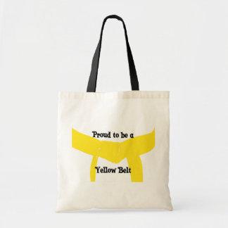 Bolsa Tote Artes marciais orgulhosas ser uma correia amarela