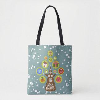 Bolsa Tote Árvore de Natal