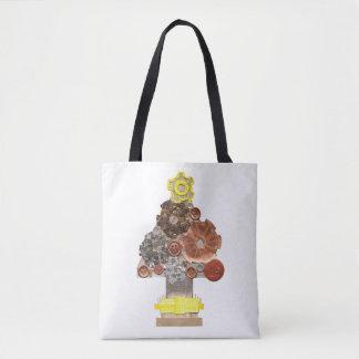 Bolsa Tote Árvore de Natal de Steampunk nenhuma sacola do