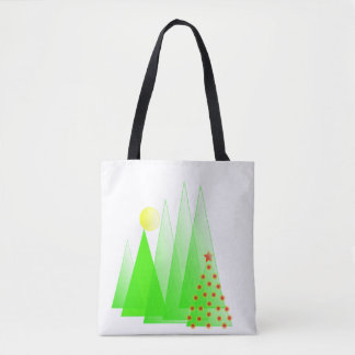 Bolsa Tote Árvore do Feliz Natal com a sacola do vetor das