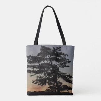 Bolsa Tote Árvore do por do sol de Eagle