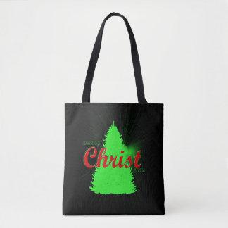 Bolsa Tote Árvore do verde da sacola da árvore de Natal