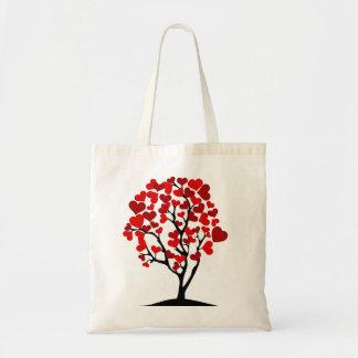 Bolsa Tote Árvore vermelha do coração
