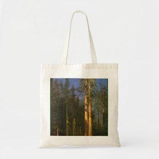 Bolsa Tote Árvores da sequóia vermelha por Albert Bierstadt