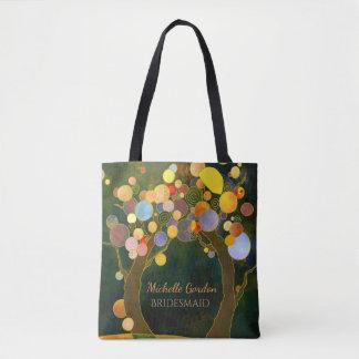 Bolsa Tote Árvores de amor rústicas que Wedding o presente da