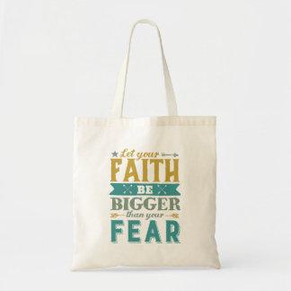 Bolsa Tote As citações inspiradas deixaram a fé ser mais