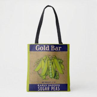Bolsa Tote as ervilhas de açúcar do bar de ouro dos anos 30
