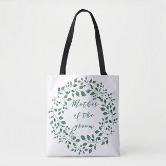 Bolsa Tote As folhas do verde envolvem a mãe de | do noivo