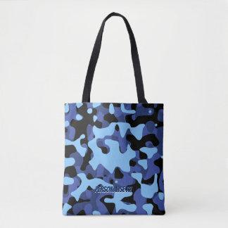 Bolsa Tote As forças armadas azuis camuflam