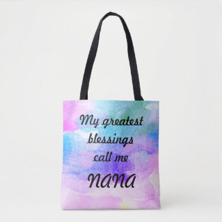 Bolsa Tote As grandes bênçãos chamam-me Nana