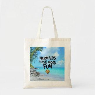 Bolsa Tote As sereias têm mais Seascape do divertimento