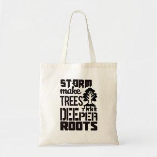 Bolsa Tote As tempestades fazem árvores tomar umas raizes