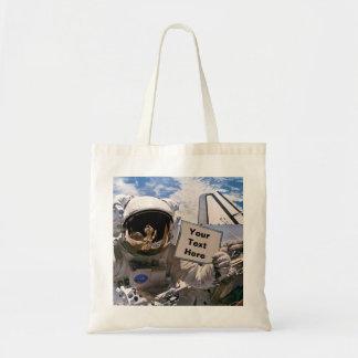 Bolsa Tote Astronauta da NASA que guardara o sinal - adicione
