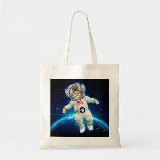 Bolsa Tote Astronauta do gato - gato do espaço - amante do