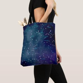 Bolsa Tote Astronomia das constelações do mapa de céu