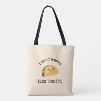 Bolsa Tote Ataque do Taco 'ele humor engraçado da chalaça da