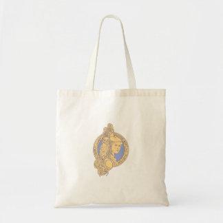 Bolsa Tote Athena com a coruja no círculo mono Li do circuito