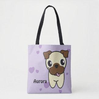 Bolsa Tote Aurora a sacola do Pug