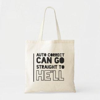 Bolsa Tote Auto sacola correta de FUNNY/HUMOUR
