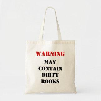 Bolsa Tote AVISO: Pode conter livros sujos