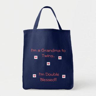 Bolsa Tote Avó aos gêmeos/dobro abençoado