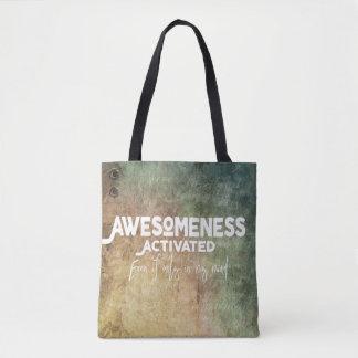 Bolsa Tote Awesomeness ativou - verde - a sacola