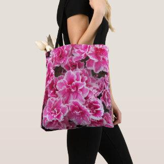 Bolsa Tote Azáleas cor-de-rosa florais