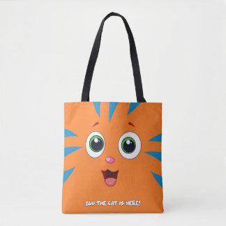Bolsa Tote Azul a sacola do gato
