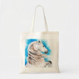 Bolsa Tote Azul andaluz do cavalo