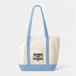 Bolsa Tote Azul da fralda do hóquei da descarga e da mudança
