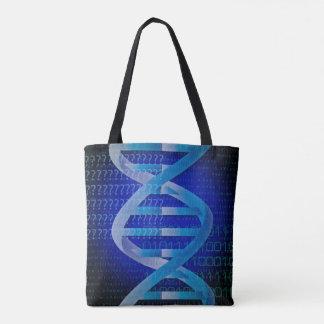 Bolsa Tote Azul da identificação do ADN