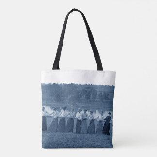 Bolsa Tote azul do rio do Fox da Reboque-O-Guerra da mulher