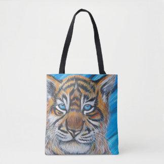 Bolsa Tote Azul do tigre