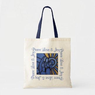 Bolsa Tote Azul moderno de Jesus Mary Joseph da natividade do