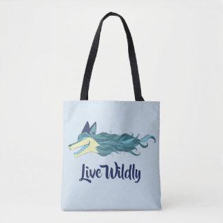 Bolsa Tote Azul vivo da sacola do Fox descontroladamente